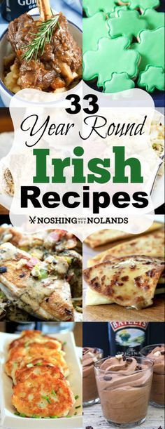 33 Year Round Irish Recipes from Noshing With The Nolands has a. 33 Year Round Irish Recipes from Noshing With The Nolands has a variety of delectable dishes for you to choose from for St. Irish Desserts, Asian Desserts, Irish Appetizers, Holiday Recipes, Great Recipes, Favorite Recipes, Recipes Dinner, Easter Recipes, Christmas Recipes