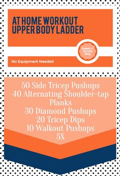 Upper body at home workout