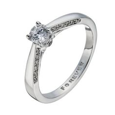 The Forever Diamond 18ct White Gold 2 5 Carat Solitaire Ring H Samuel