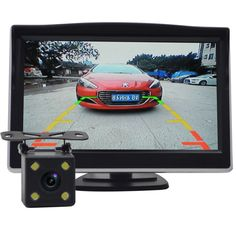 "NUOYUN  High Resolution 5"" Color TFT LCD  Car Parking Assistance Monitors DC 12V  HD car monitor + HD car camera combination"