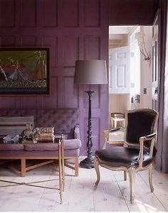 Beautiful, sumptuous room colors! From Steven Gambrel, Time and Place