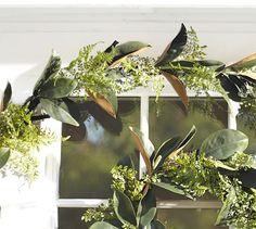 Faux Fern & Magnolia Garland #potterybarn