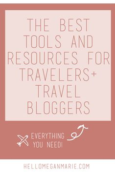 These are the #travel resources that you will need for your next #trip #abroad!