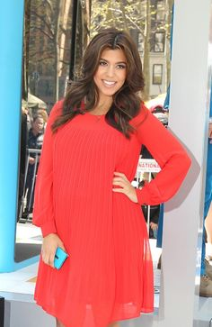 Kourtney Kardashian Shows Off Her Bump in Red at a Nokia Event in NYC