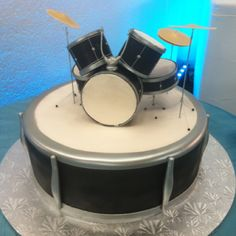 Drum cake!    I made this today and it took forever!