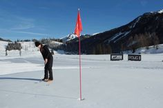 Snow golfing Switzerland | World of DMCs | www.world-of-dmcs | #travel #events