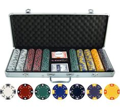 The Ace King Tricolor Clay Poker Chip Set is good for players. This set features the great sound and feel of a clay chip with a metal insert for an extra heavyweight poker chip. Clay Poker Chips, Poker Chips Set, Poker Set, Clay Set, King Design, Poker Night, Casino Poker, Poker Games, Game Pieces