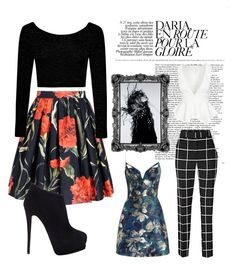 """Brave - inverted triangle body shape must haves"" by jovitaluis ❤ liked on Polyvore featuring Magdalena, Dolce&Gabbana, Giuseppe Zanotti, Zimmermann and Boohoo"