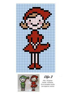 Fairy elf hama perler beads pattern