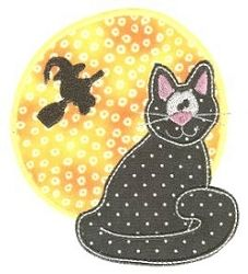 Halloween Cat Applique - 2 Sizes! | Halloween | Machine Embroidery Designs | SWAKembroidery.com Designs by Juju