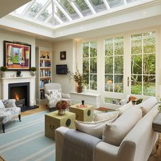 This excellent windows exterior is a really inspiring and outstanding idea Interior Exterior, Home Interior Design, Living Room Modern, Home And Living, Conservatory Decor, Garden Room Extensions, Cosy Kitchen, Cosy House, Home Comforts