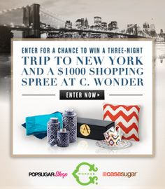 Enter For a Chance to Win a Trip to NYC & a $1,000 Shopping Spree! Sounds great, doesn't it?