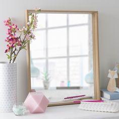Miroir en bois naturel H 51 cm ELIN