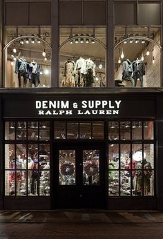 Ralph Lauren Denim & Supply Store, Amsterdam. An idea for my future shop. ~Shashikins