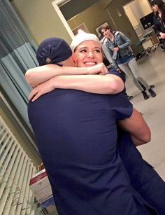 Sarah Drew & Jessie Williams BTS of Grey's Anatomy season 13