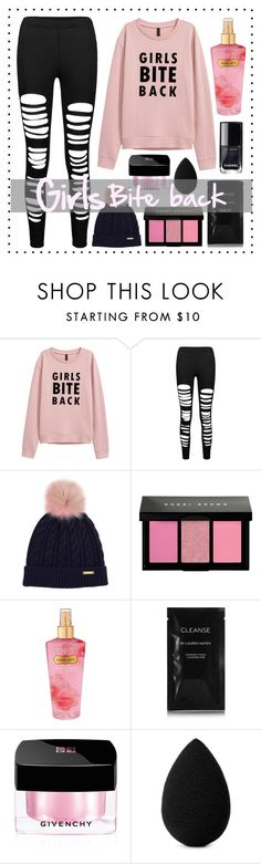"""""""Girls bite back"""" by loveenana on Polyvore featuring Burberry, Bobbi Brown Cosmetics, Victoria's Secret, Cleanse by Lauren Napier, Givenchy, beautyblender and Chanel"""