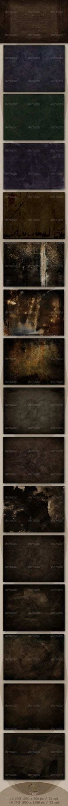 16 Dark Decorative & Grunge Web Backgrounds