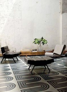 patterned tile and cement walls / sfgirlbybay