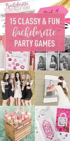 15 Cute & Classy Bachelorette Party Games    Get ideas, DIYs and Free Downloads for games the I Do Crew will <3.