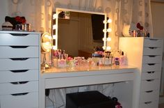 IKEA Makeup Vanity | Ikea Alex | Makeup Vanity & PVT Collections!!! ...my dream come true! ;)