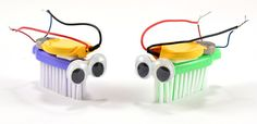 lesson plan for building bristlebots, tiny robots made with the head of a toothbrush.