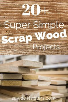 Scrap wood projects - Scrap wood projects perfect for all those leftover boards you have laying around Put your scraps to good use with these mustbuild, beginner friendly projects sawdustsisters scrapwood scrapwoodpr Wood Projects For Beginners, Scrap Wood Projects, Small Wood Projects, Cool Woodworking Projects, Wood Working For Beginners, Diy Pallet Projects, Custom Woodworking, Woodworking Plans, Popular Woodworking