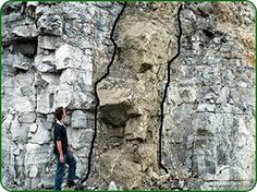Kimberlite pipe through limestone. Kimberlite pipes are the geologic source rock of the world,s commercial diamond production, They also contain other precious and semi-precious stones. Named after Kimberly South Africa,( where the geologic formations were first discovered in 1888).