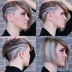 Messy Blonde Balayage Bob - 55 Different Versions of Curly Bob Hairstyle - The Trending Hairstyle Messy Bob Hairstyles, Trending Hairstyles, Shaved Hairstyles, Short Haircuts, Short Hair Cuts For Women, Short Hair Styles, Haare Tattoo Designs, Graduated Bob Haircuts, Long Bob With Bangs
