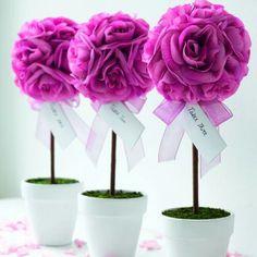 Arbolitos de rosas