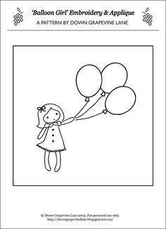 Balloon girl final pattern by Down Grapevine Lane, via Flickr