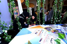 The Etisalat corner at 2014 Arab Media Forum at Madinat Jumeirah featured an indoor garden space where people could network between sessions.#amf #madinatjumeirah #indoorgarden #tabel #hangingchars #chairs #dubai #uae