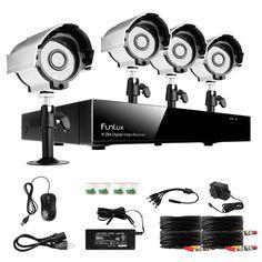 Funlux 8CH 960H HDMI DVR 700TVL HD Outdoor IR CCTV Home Security Camera System #Funlux