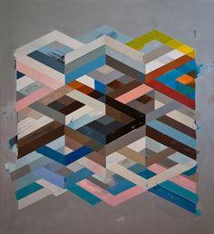 Jeff Depner - Reconfigured Grid Paintings (2012)