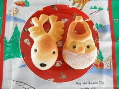 Make reindeer shaped breads for Christmas.