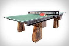 Railyard Ping Pong Table | Uncrate