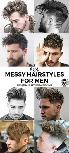 Best Messy Hairstyles For Men: Cool Men's Short, Medium and Long Messy Hair - Cool Haircuts For Guys #menshairstyles #menshair #menshaircuts #menshaircutideas #mensfashion #mensstyle #fade #undercut #messyhair Trendy Mens Hairstyles, Popular Haircuts, Short Hair Styles, Hair Cuts, Bob Styles, Haircuts, Short Haircuts, Short Length Haircuts, Hair Cut