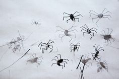Fingerprint spiders- so cute!