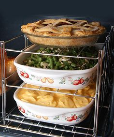 Three-Tier Oven Rack.  So useful for big thanksgiving meals!