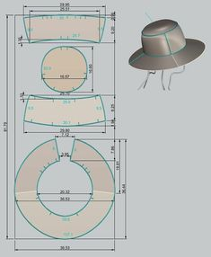 Awesome Photo of Hat Sewing Patterns Hat Patterns To Sew, Barbie Patterns, Dress Sewing Patterns, Clothing Patterns, Barbie Clothes, Sewing Clothes, Diy Clothes, Sewing Hacks, Sewing Tutorials