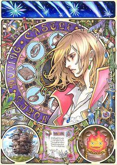Le chateau ambulant : De magnifiques affiches Miyazaki imprégnées d'Art Nouveau par l'artiste Takumi !