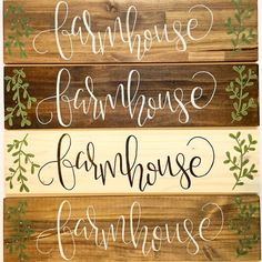 Farmhouse Hand Lettered Calligraphy & Painted by FearfullyMadeCo