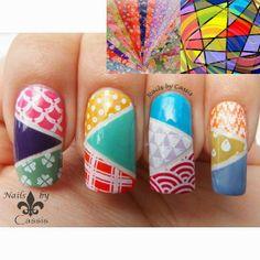 Nails by Cassis: MoYou London nail art challenge entry - Colours #nails #nailart #nailstamping #moyoulondon