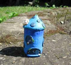 OOAK handsculpted mushroom house polymer clay by PixyHill on Etsy