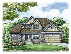 Four Bedroom Craftsman Home (HWBDO75667) | Craftsman House Plan from BuilderHousePlans.com