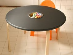 #diy chalkboard table. She will like this
