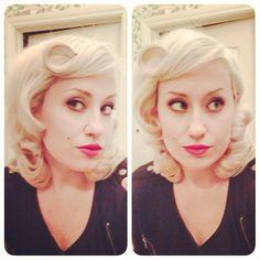 1950 hair and makeup #vintage #vintagehair #1950 #retro