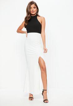 Black Monochrome Choker Maxi Dress | Missguided