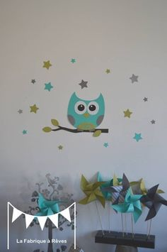 Chambre b b on pinterest bebe cloud pillow and nurseries - Decoration murale bebe chambre ...