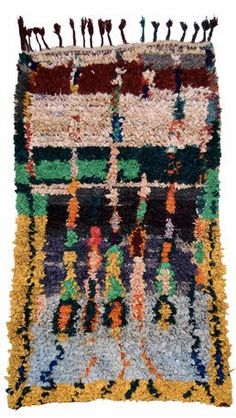 Moroccan, Boucherouite Berber Tribal Carpet - Region: n/a - Date: b/a