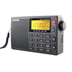 Amazon.com: C Crane CC Skywave AM, FM, Shortwave, Weather and Airband Portable Travel Radio with Clock and Alarm: Electronics